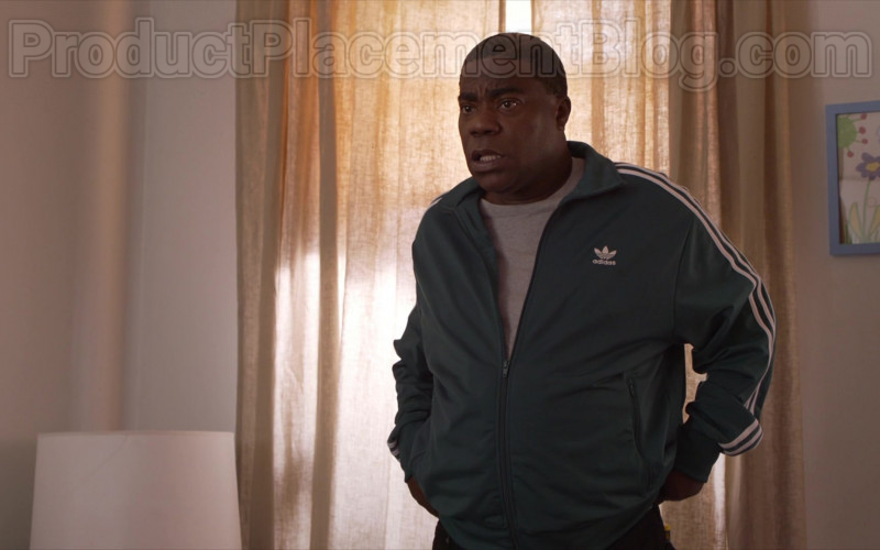 Actor Tracy Morgan as Tray Wearing Adidas Green Jacket Outfit in The Last O.G. S03E07 TV Show (1)