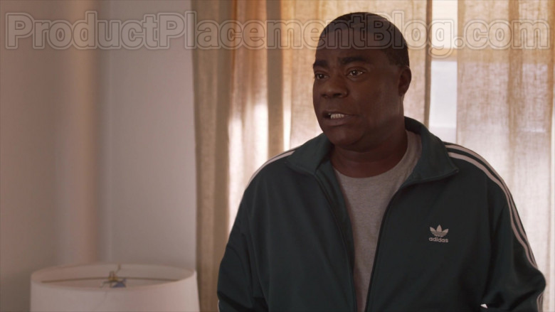 Actor Tracy Morgan as Tray Wearing Adidas Green Jacket Outfit in The Last O.G. S03E07 TV Show (2)