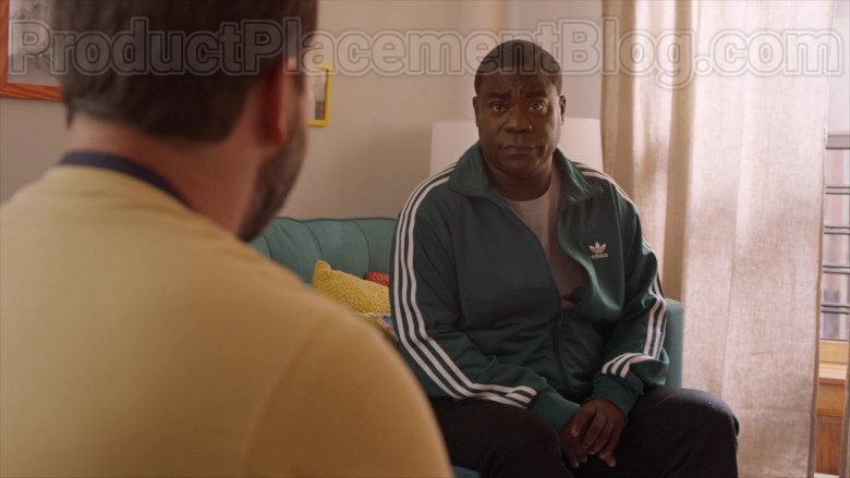 Actor Tracy Morgan as Tray Wearing Adidas Green Jacket Outfit in The Last O.G. S03E07 TV Show (3)
