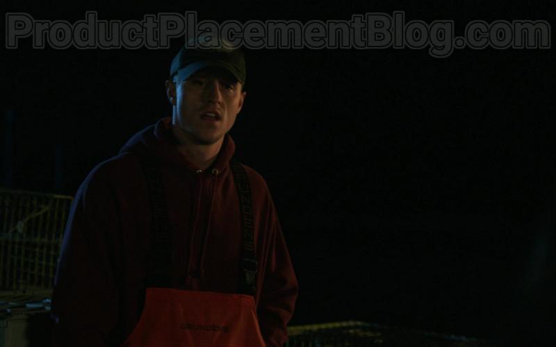 Actor Wearing Grundéns Fishing Bib Pants in Hightown S01E03 Rebellion Dogs (2020)