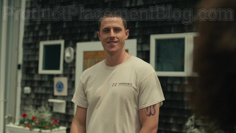 Actor Wearing Harvey Building Products T-Shirt in Hightown S01E0 TV Series