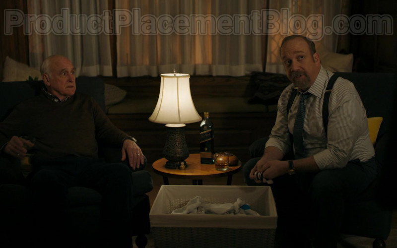 Actors Jeffrey DeMunn & Paul Giamatti Drinking Johnnie Walker Blue Label Whisky in Billions S05E04 TV Show (1)