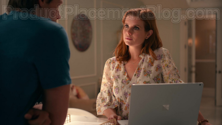Actress JoAnna Garcia Swisher Using Microsoft Surface Laptop Used in Sweet Magnolias S01E08 TV Show by Netflix (2)