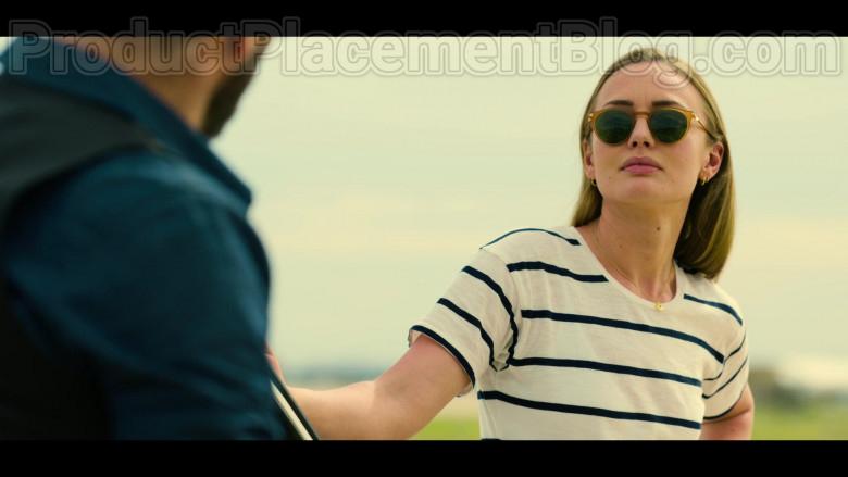 Actress Laura Haddock as Zoe Walker Wearing Mykita Sunglasses in White Lines TV Show by Netflix (3)