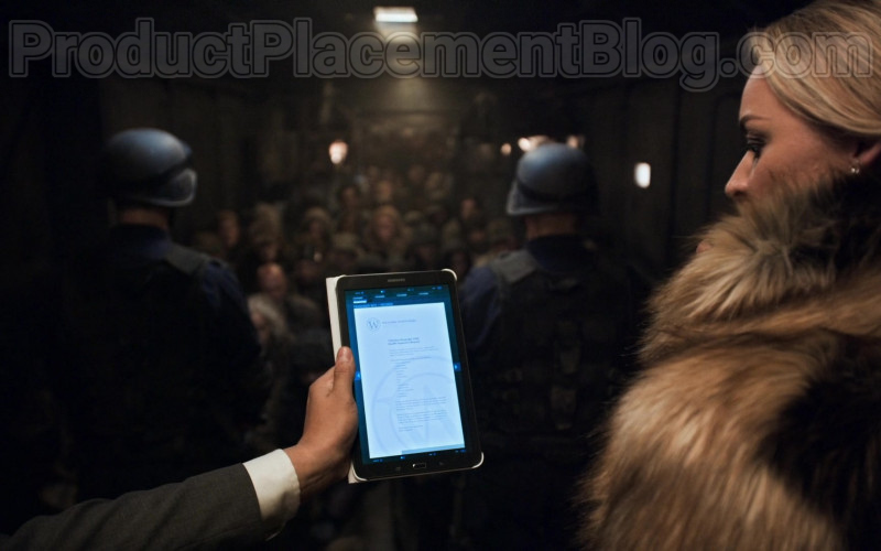 Actress Using Samsung Galaxy Android Tablet in Snowpiercer S01E01 First, the Weather Changed (2020) TV Show
