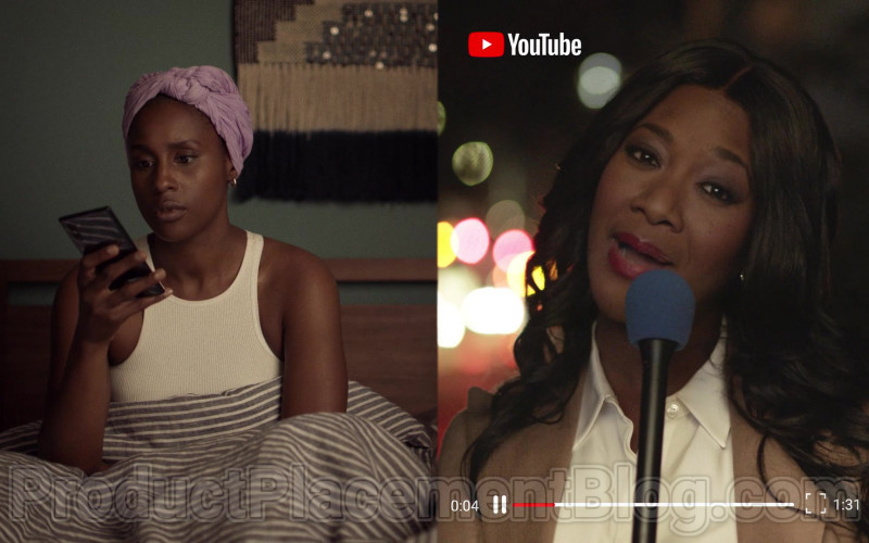 Actress Watching Youtube Video in Insecure S04E06 Lowkey Done (2020) TV Show