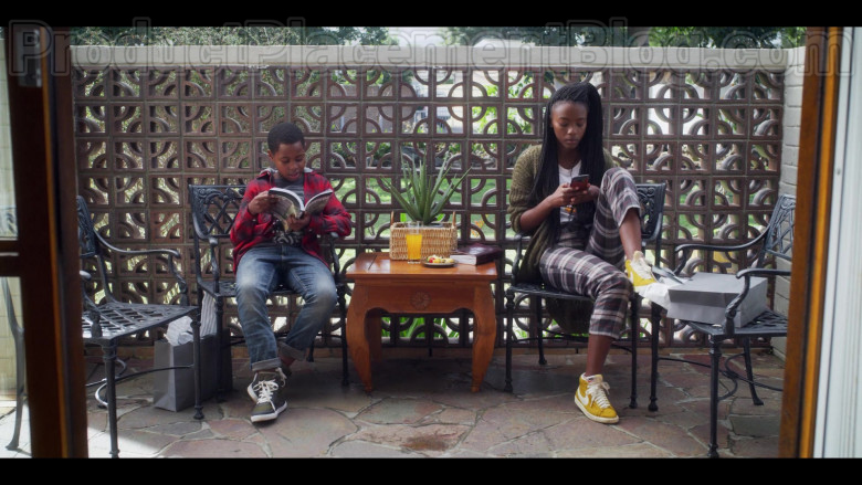 Actress Wearing Nike Blazer Mid Leather Yellow High Top Sneakers Outfit For Women in Blood & Water Netflix TV Show (2)