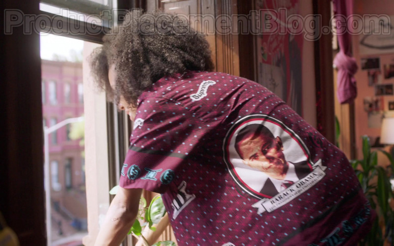 Actress Wearing Supreme Obama Shirt Outfit in Betty S01E03 TV Show (2)