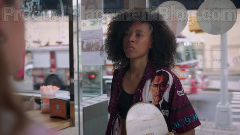 Actress Wearing Supreme Obama Shirt Outfit in Betty S01E03 TV Show (5)