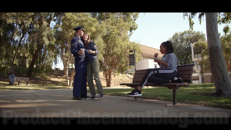 Adidas Women's Black Sneakers Tawny Newsome as Angela Ali in Space Force S01E03 TV Show by Netflix