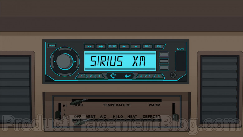 Animated TV Series Character Listening SiriusXM Radio in Family Guy S18E20