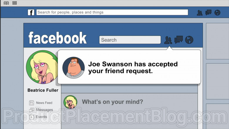Animated TV Show Character Using Facebook Social Network Website in Family Guy S18E20 (4)