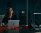 Apple MacBook Laptop and Cisco Phone of Maggie Siff as Wendy...