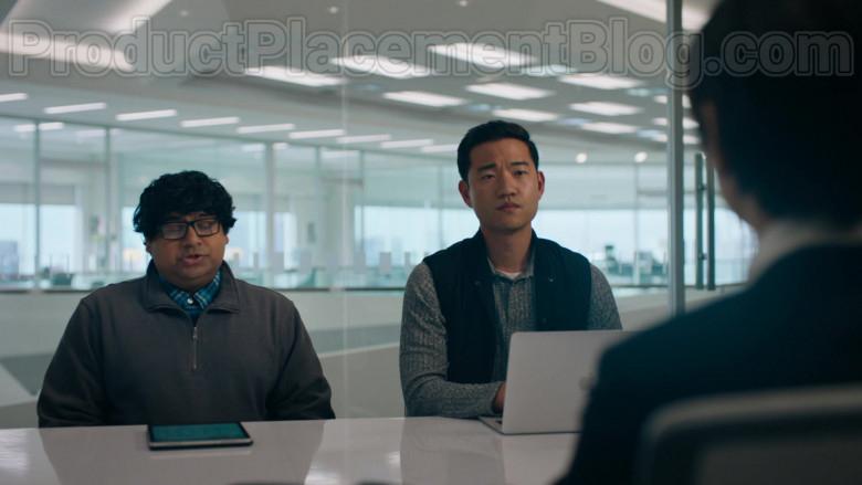 Apple MacBook Laptop of Daniel K. Isaac as Ben Kim in Billions S05E02 The Chris Rock Test (2020)