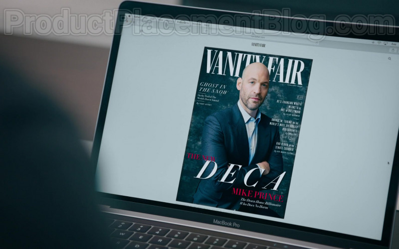 Apple MacBook Pro and Vanity Fair Magazine Cover in Billions S05E01 The New Decas (2020)