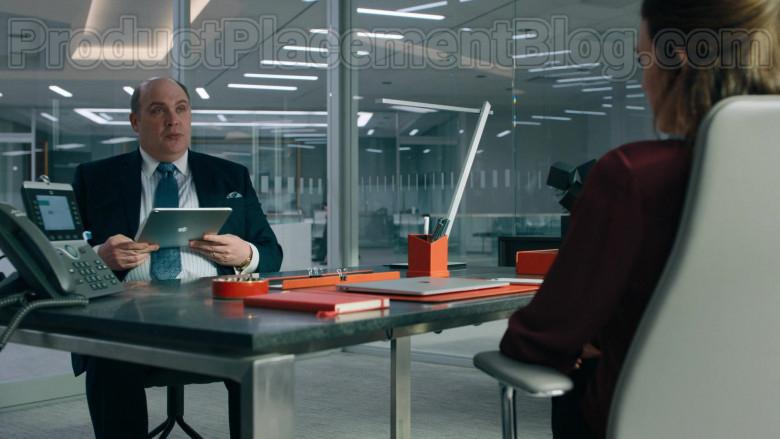 Apple iPad Tablet of Glenn Fleshler as Orrin Bach in Billions S05E02 (2)