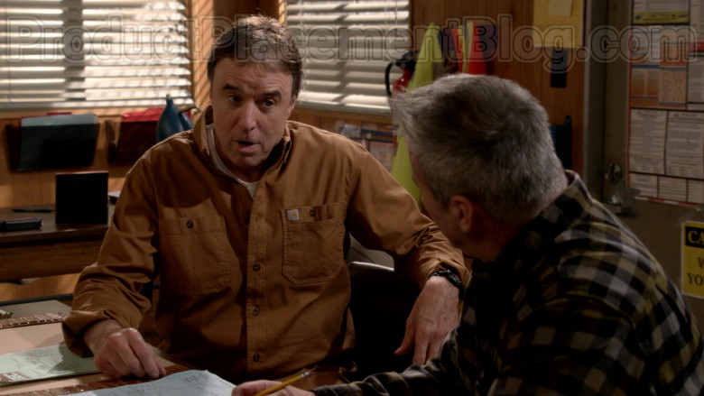 Carhartt Brown Shirt Worn by Kevin Nealon in Man with a Plan S04E11 TV Series (2)