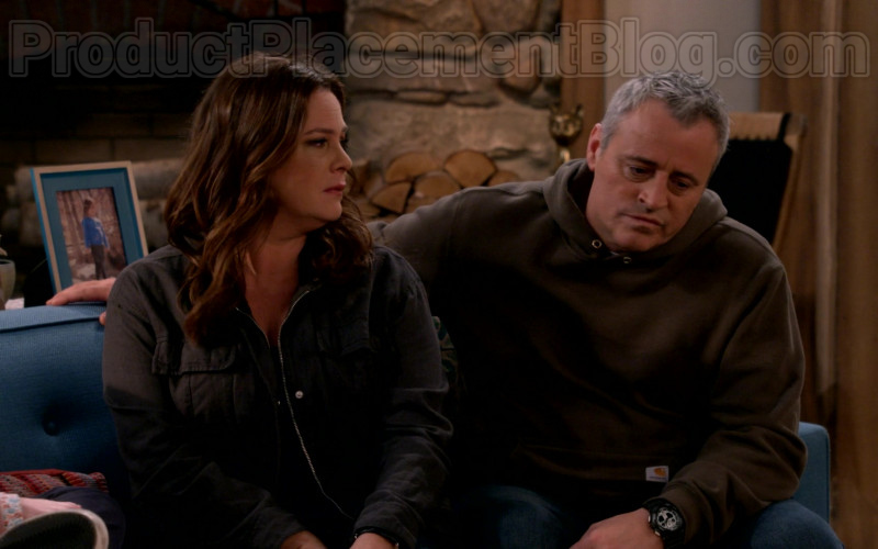 Carhartt Hoodie Outfit Worn by Matt LeBlanc in Man with a Plan S04E11 TV Show (1)