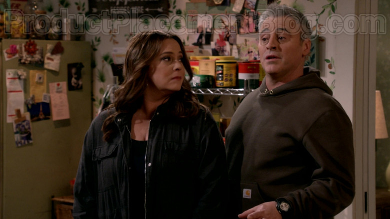 Carhartt Hoodie Outfit Worn by Matt LeBlanc in Man with a Plan S04E11 TV Show (3)