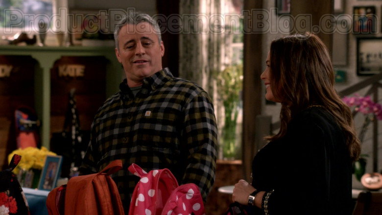 Carhartt Long Sleeve Flannel Shirt Casual Outfit Worn by Matt LeBlanc in Man with a Plan S04E11 TV Series (1)