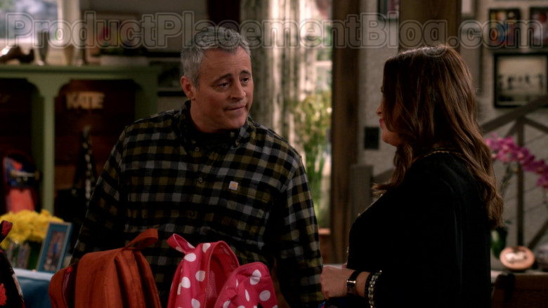Carhartt Long Sleeve Flannel Shirt Casual Outfit Worn by Matt LeBlanc in Man with a Plan S04E11 TV Series (2)