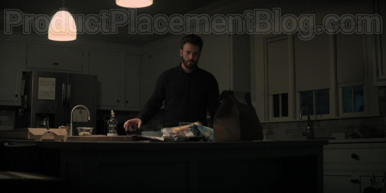 Chris Evans Enjoying Cask & Crew Whiskey in Defending Jacob S01E08 TV Show