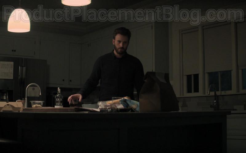 Chris Evans Enjoying Cask & Crew Whiskey in Defending Jacob S01E08 TV Show