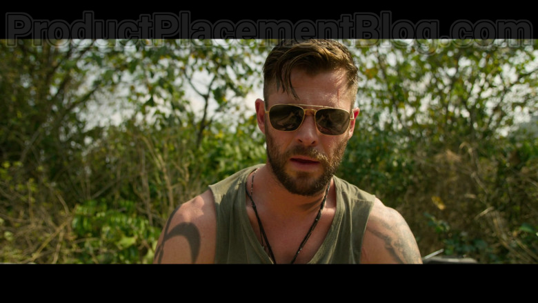 Chris Hemsworth as Tyler Rake Wearing Matsuda M3040 Sunglasses in Extraction 2020 Movie by Netflix (2)
