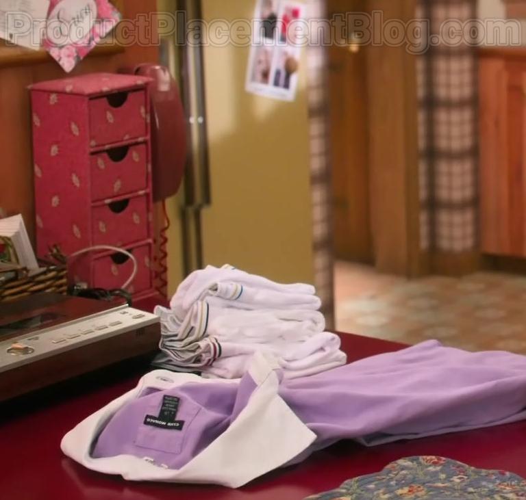 Club Monaco Purple Shirt in The Goldbergs S07E23 Pretty in Pink (2020)