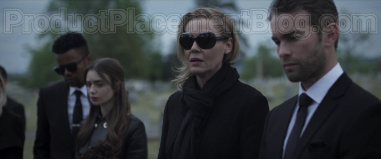 Connie Nielsen as Catherine Monroe Wearing Ray-Ban Jackie Ohh Ii RB4098 Black Sunglasses in Inheritance Movie (1)