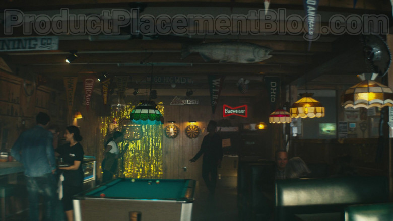 Coors Light and Budweiser Signs in Homecoming TV Series