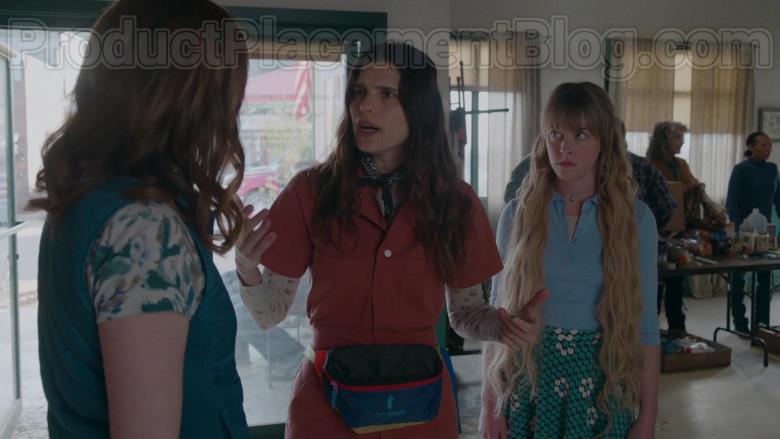 Cotopaxi Fanny Pack of Lake Bell as Rio Levine-Young in Bless This Mess TV Series (1)