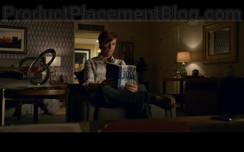 Cross the Line Book by James Patterson Held by David Spade in The Wrong Missy Movie by Netflix
