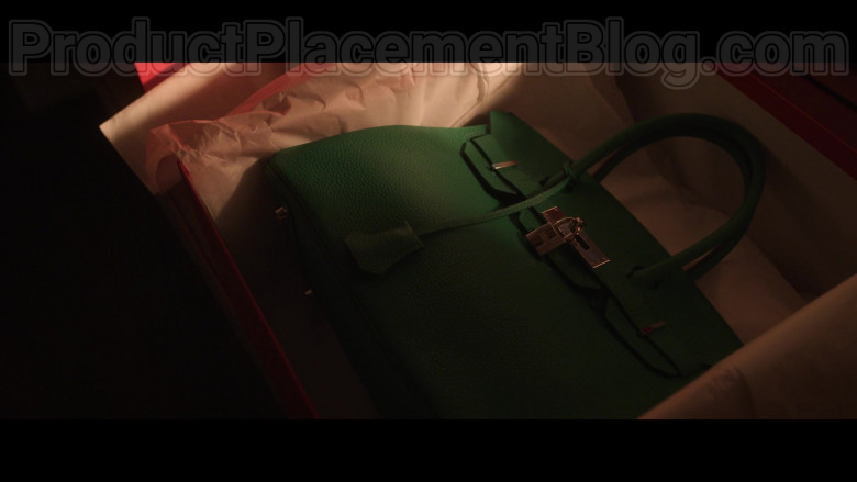 Cush Jumbo as Lucca Quinn Carrying Hermes Birkin Green Handbag in The Good Fight S04E06 TV Show (2)