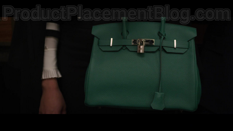 Cush Jumbo as Lucca Quinn Carrying Hermes Birkin Green Handbag in The Good Fight S04E06 TV Show (3)