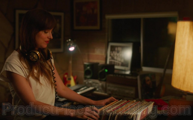 Dakota Johnson Using Vintage Teac Headphones in The High Note (2020) Movie