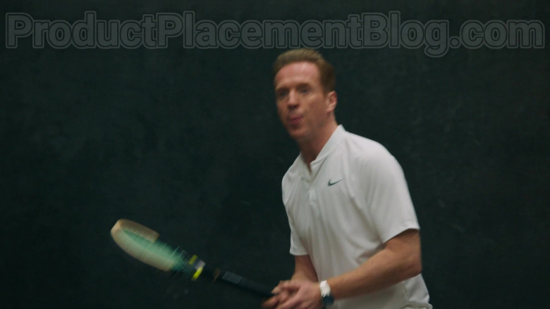 Damian Lewis as Bobby Axelrod Wearing Nike White Polo Shirt Tennis Outfit in Billions S05E04 TV Series (1)