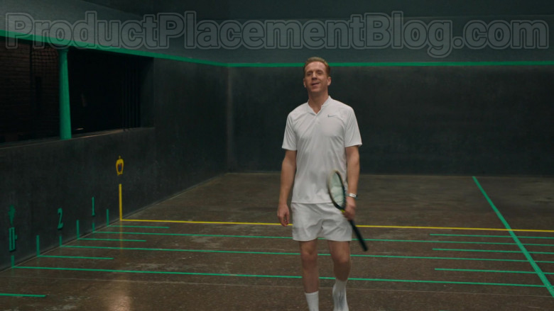 Damian Lewis as Bobby Axelrod Wearing Nike White Polo Shirt Tennis Outfit in Billions S05E04 TV Series (2)