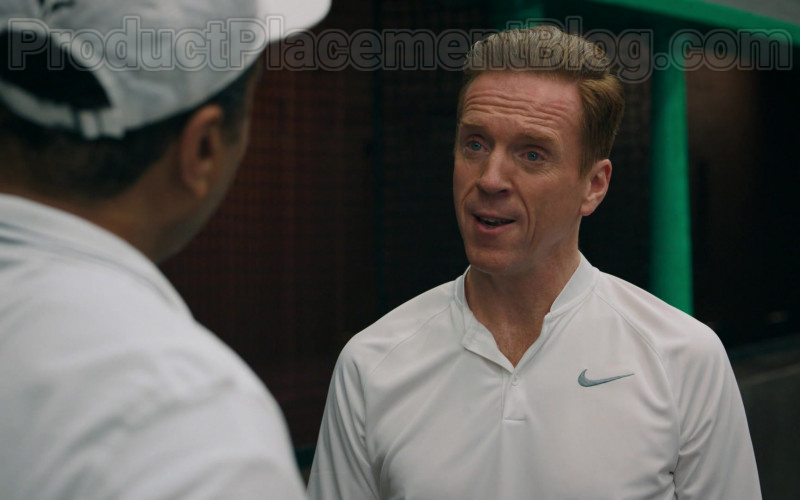 Damian Lewis as Bobby Axelrod Wearing Nike White Polo Shirt Tennis Outfit in Billions S05E04 TV Series (4)