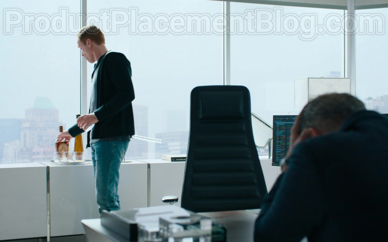 Damian Lewis as Robert 'Bobby' Axelrod Enjoying Michter's Bourbon in Billions S05E04 TV Show