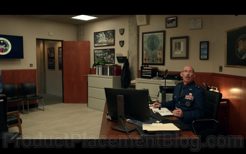 Dell Computer Monitor Used by Don Lake as Brad Gregory in Space Force S01E01 The Launch (2020)