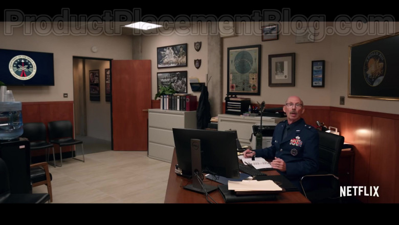 Dell Computer Monitor in Space Force (Season 1, Trailer)