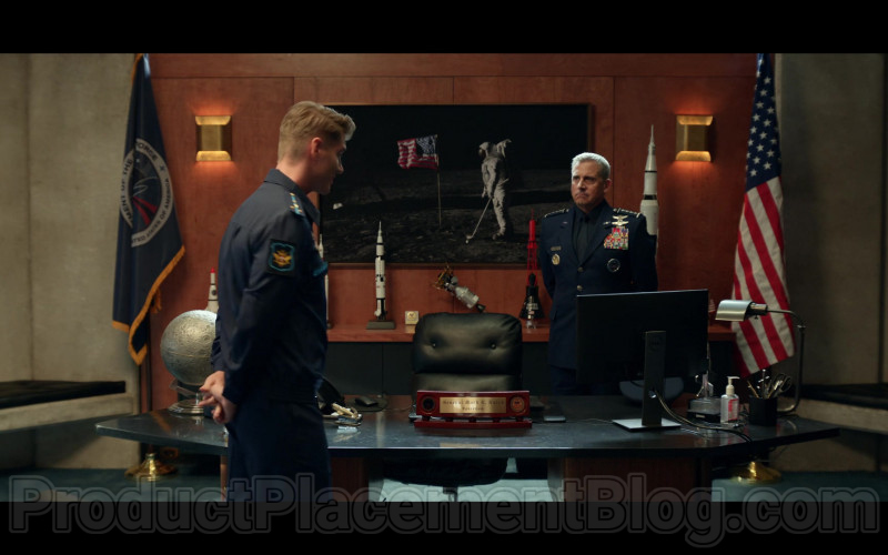 Dell Computer Monitor of Steve Carell as General Mark R. Naird in Space Force S01E01 The Launch 2020 (1)