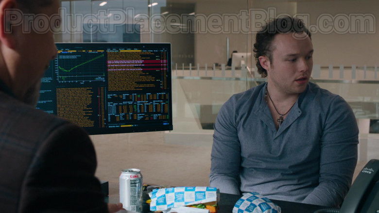 Diet Coke Soda Can and Court Street Grocers Sandwiches in Billions S05E04 TV Series (2)