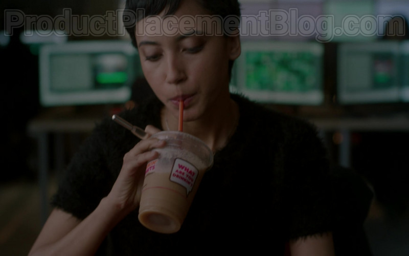 Donkin' Donuts Coffee Enjoyed by Andy Allo as Nora in Upload S01E01 Welcome to Upload (2020)