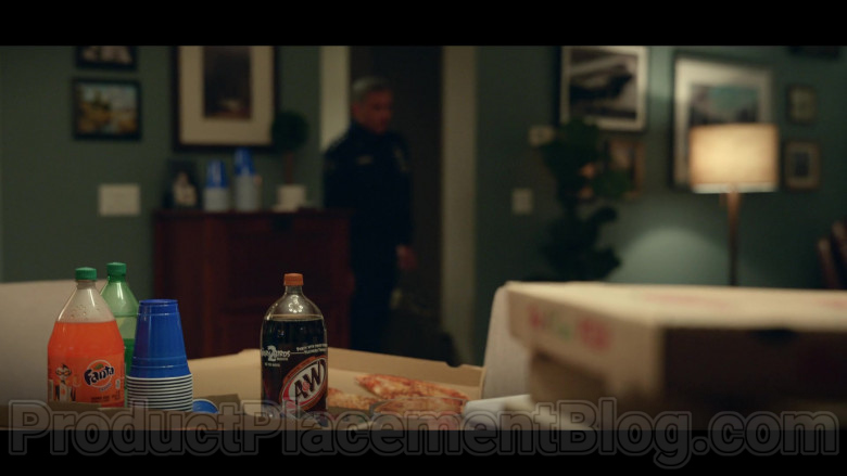 Fanta and A&W Root Beer Bottles in Space Force S01E04 Lunar Habitat (2020)
