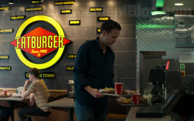 Fatburger Fast Casual Restaurant and Coca-Cola in Trying TV Show (1)