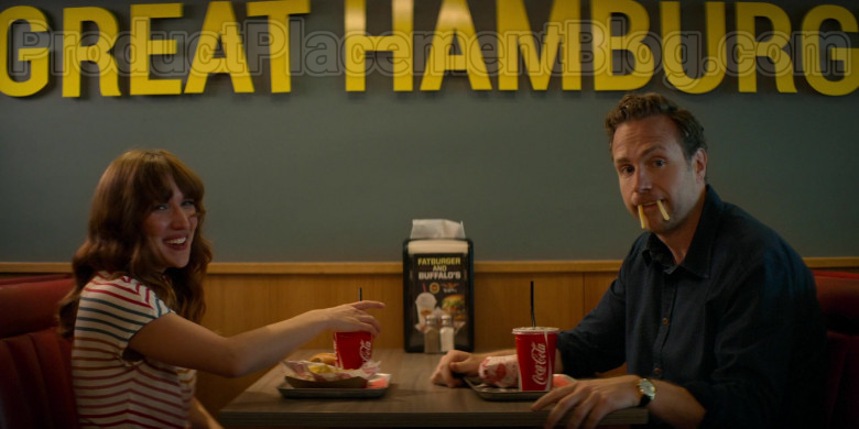Fatburger Fast Casual Restaurant and Coca-Cola in Trying TV Show (3)