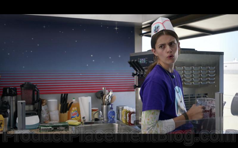 First Street Coffee, Westrock Coffee, Ajax, Glenvale Waxed Deli Paper in Space Force S01E06 The Spy (2020)