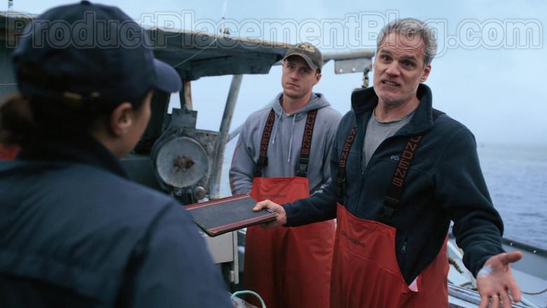 Grundéns Fishing Bib Pants in Hightown S01E01 (3)